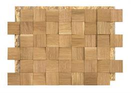 Eiche Quadrat Spaltholz geölt 6cm 0.99m² / Pack