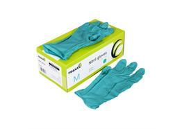 Handschuhe Nitril türkis, Grösse M Box à 100 Stk. (GLN 08)