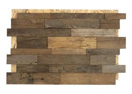 chêne déchets de bois fendu naturel 6cm 0.99m² / pac