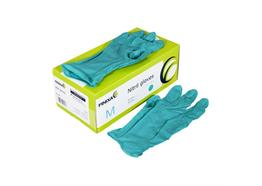 Gants Nitril turquoise, taille L box 100 pce (GLN 09)